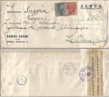 Libia Colonia Lettera Aerea Commerciale Tripoli 8dic1940 X Svizzera Sibilla D.14 L.2 + Pittorica C.25 - Fascetta Censura - Libyen