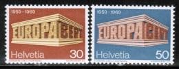 CEPT 1969 CH MI 900-01  SWITZERLAND - Europa-CEPT