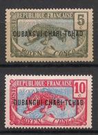Oubangui - 1915-18 - N°Yv. 4 Et 5 - Panthère 5c / 10c - Neuf Luxe ** / MNH / Postfrisch - Nuovi