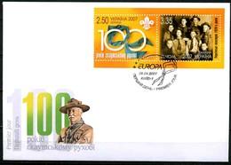 Ukraine 2007 MiNr. 856 - 859 Scouting Europa - CEPT MiNr. 856 - 859 Booklet  FDC 9.5 € - Ukraine