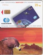 KAZAKHSTAN - Eagle, Kazak Telecom Telecard 25 Units, Chip AX02, Used - Kazakhstan