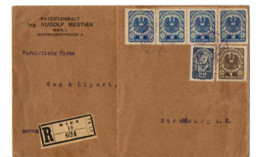 B18 1921 Lettre Recommandée De Vienne Pour Strasbourg - Briefe U. Dokumente