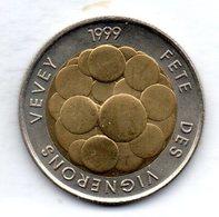 SWITZERLAND, 5 Francs, Bimetallic, Year 1999, KM #86 - Schweiz