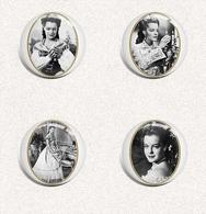 140 X Romy Schneider As Sissi Film Fan ART BADGE BUTTON PIN SET 10-13 (1inch/25mm Diameter) - Cinéma