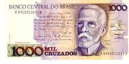 Brazil P.216a 1000/1 Cruzados 1989  Unc - Brasile