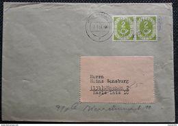 BRD 1954, Brief Posthorn 2Pf Waagerechtes Paar, PASSAU - Lettres & Documents