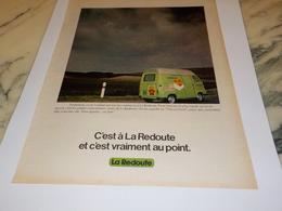 ANCIENNE  PUBLICITE LA REDOUTE ROUBAIX 1978 - Vintage Clothes & Linen