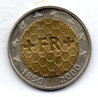 SWITZERLAND, 5 Francs, Bimetallic, Year 2000, KM #91 - Schweiz