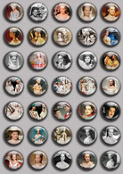 175 X Romy Schneider As Sissi Film Fan ART BADGE BUTTON PIN SET 1-5 (1inch/25mm Diameter) - Cinéma