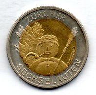 SWITZERLAND, 5 Francs, Bimetallic, Year 2001, KM #92 - Schweiz
