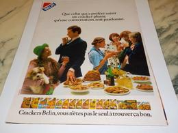 ANCIENNE  PUBLICITE  BISCUIT APERITIF DE BELIN 1979 - Afiches