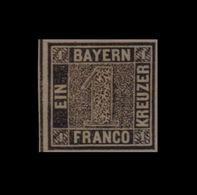 ***REPLICA*** Of 1849 Bayern, 1kr Black - First Issue - Bayern