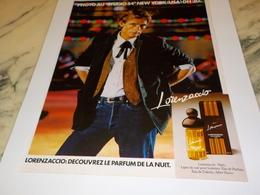 ANCIENNE PUBLICITE PARFUM  LORENZACCIO  1978 - Perfumes & Belleza