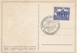 Deutsches Reich, 25+50 Pfg, Grosser Preis Der Reichshauptstadt 1941, MiNr 803, Mit Sonderstempel Vom Pferderennen - Deutschland