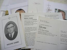 65 DOODSPRENTJES MET DE NAAM SABBE - Religion & Esotericism