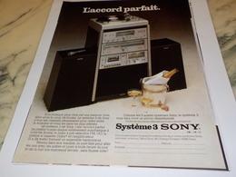ANCIENNE PUBLICITE  L ACCORD PARFAIT SONY 1978 - Música & Instrumentos