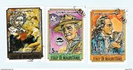 Mauritanie - Lot De 3 Timbres - Personnages Celebres (Rubens, Powell, Goethe) Année 1984 - 538 à 540 - Mauritania (1960-...)