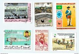 Mauritanie - Lot De 17 Timbres (prix Nobel, Dirigeable, Mecque, Football, Année De La Jeunesse, ...) - Mauritania (1960-...)