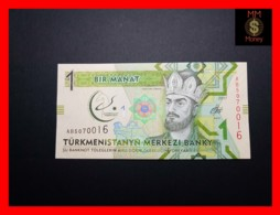 TURKMENISTAN 1 Manat 2017 P. 36 *COMMEMORATIVE*  UNC - Turkménistan
