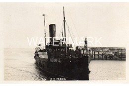 SS MONA OLD R/P POSTCARD SHIPPING BY D COLLISTER PALATINE RD ISLE OF MAN - Piroscafi