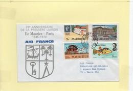 Anniversaire 1ére Liaison Paris-Ile Maurice Air France 1970 - Maurice (1968-...)