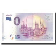 Allemagne, Billet Touristique - 0 Euro, Germany - Lübeck - Porte De Holstentor - Allemagne
