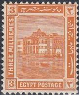 Egypt, Scott #52, Mint Hinged, Ras-el-Tin Palace, Issued 1914 - Ägypten