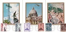 Vaticano Postcard Golden Series 1967 Air Mail - Maximumkarten (MC)
