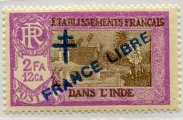 !!! PRIX FIXE : INDE, N°165a SURCHARGE BLEUE AU LIEU DE ROUGE NEUF ** - India (1892-1954)