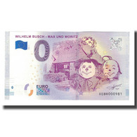 Allemagne, Billet Touristique - 0 Euro, Germany - Littérature - Wilhelm Busch - - Allemagne