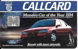 CARTE-PUCE-IRLANDE-20U-SC7-1994-FORD-MONDEO-Voiture De L Année-UTILISE -TBE - Auto's
