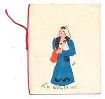 Carte De Voeux - La Nourrice - Carte Peinte à La Main, Donc Unique - Illustrateur Edé - Old Paper