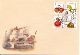 Ukraine 2007 MiNr. 847-9, 853 Household Items Handicraft Fine Arts (Ceramics & Glass) FDC 4.70 € - Ukraine