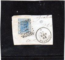 CG40 - 1867 - Italia - Re Vittorio Emanuele II° -   Frammento Con Annullo Di Gozzano 30/1/1872 - Usati