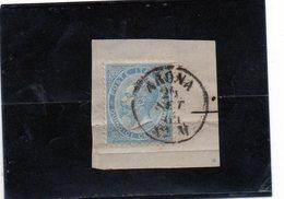 CG40 - 1863  Italia - Re Vittorio Emanuele II° -   Frammento Con Annullo Di Arona 24/9/1864 ? - Usati