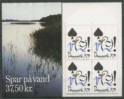 Dänemark 1994 Umweltschutz Wasser Markenheftchen 1071 MH Postfrisch (C93048) - Boekjes