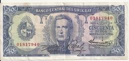 URUGUAY 50 PESOS ND1967 VF P 46 - Uruguay