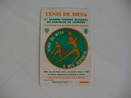 Ténis De Table Ténis De Mesa Ping Pong Portugal Portuguese Pocket Calendar 1985 - Calendars