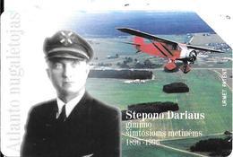 CARTE-MAGNETIQUE-LITUANIE-PILOTE D AVIONS Stepono DARIAUS-Utilisé-TBE - Litouwen
