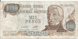 ARGENTINE 1000 PESOS ND1976-83 VG+ P 304 - Argentina
