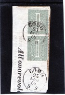 CG40 - 1863  Italia - Cifra -   Frammento Con Annullo Di Como 23/7/1864 - Usati