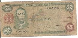 JAMAIQUE 2 DOLLARS 1990 VG+ P 69 D - Jamaica