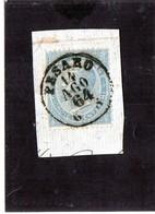 CG40 - 1863  Italia - Re Vittorio Emanuele II° - Frammento Con Annullo Di Pesaro 14/8/1864 - Usati
