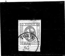 CG40 - 1863  Italia - Re Vittorio Emanuele II° - Frammento Con Annullo Di Torino 6/4/1863 - Usati