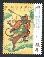Sc. # 2005 Lunar New Year, Year Of The Monkey Single Used 2004 K695 - 1952-.... Règne D'Elizabeth II