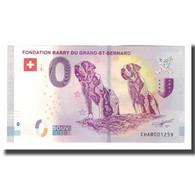 Suisse, Billet Touristique - 0 Euro, Switzerland - Martigny - Fondation Barry Du - Jetons & Médailles
