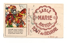 Buvard Sablé Marie Bayeux Tout Au Beurre - Avec Chanson De Malbrough - Format : 15x8.5 Cm - Food