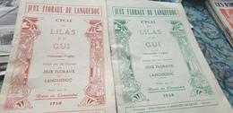 JEUX FLORAUX LANGUEDOC/ CYCLE DU LILAS ET DU GUI / LAMALOU LES BAINS - Books, Magazines, Comics