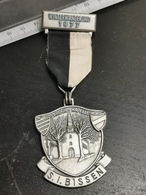 Luxembourg Médaille, Winterwanderung 1977 BISSEN - Jetons & Médailles