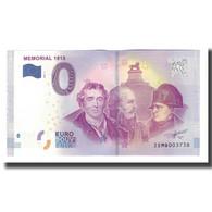 Belgique, Billet Touristique - 0 Euro, Belgium - Braine-L'Alleud - Mémorial - België